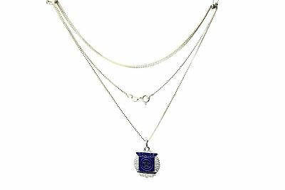 24.5 inch 925 Sterling Silver Box Link Chain with Police Pendant 4.5g (NEC2656)