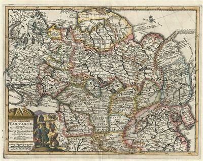 1728 Van der Aa and Map of Asia or Tartary