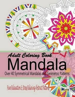 NEW Adult Coloring Books Mandala By New Coloring Books For Grownups Paperback