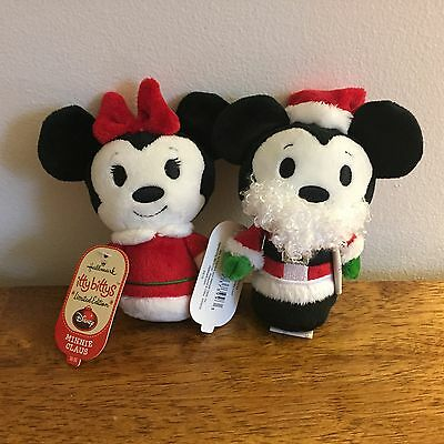 Hallmark Itty Bittys Disney Christmas Mickey and Minnie Mouse LE Set of 2 NWT!
