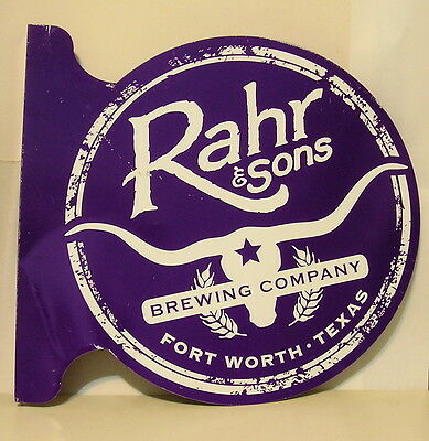 Double Sided Metal Trade Sign Rahr & Sons Brewing Company Fort Worth Texas Beer