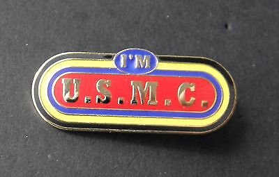 I'm Us Marine Corps Usmc Marines Lapel Pin Badge 1.5 Inches