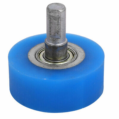 10mm Dia Shaft 50mmx20mm Coating Machine Silicon Rubber Wheel Roller Blue