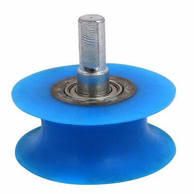 10mm Dia Shaft 60mmx25mm Coating Machine Silicon Rubber Wheel Roller Blue