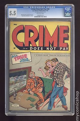 Crime Does Not Pay (1942) #40 CGC 5.5 0788761013