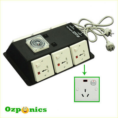 High Quality Power Relay Industrial Timer Box 6 for Hydroponics Lighting