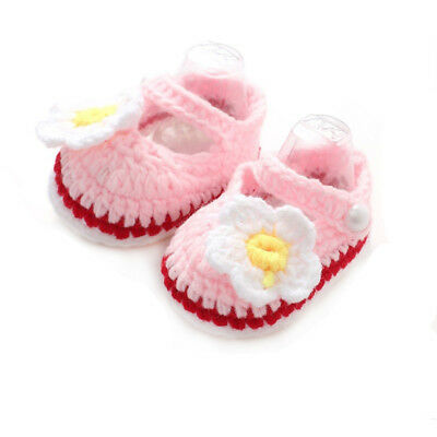 Casual Baby Girls Handmade Knit Infant Shoes Soft Sole Sneaker Toddler Shoes