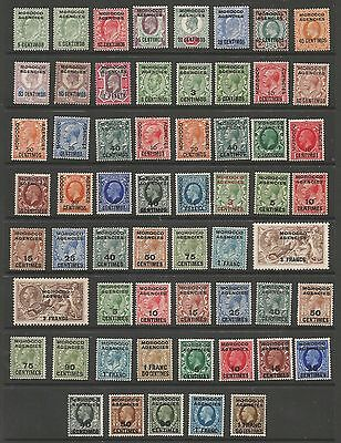 Morocco Agencies Spanish&french O/prints On Gb From Evii To Gv Fresh Mint C.£325
