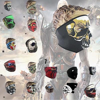 Full Face Mask Skull Black Reversible Neoprene Halloween Snow Ski Motorcycle SP