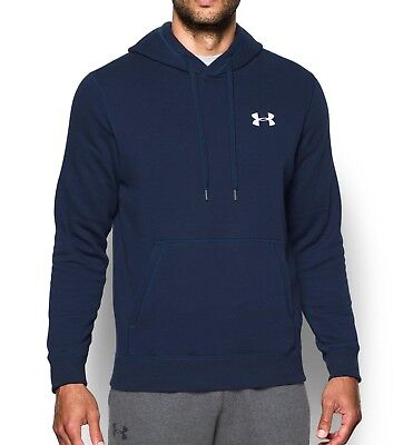 Under Armour Rival Mens Fitted Pull Over Running Hoody - Blue