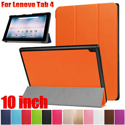 Folding Leather Stand Case Cover For Lenovo Tab 4 10 inch 2017 Table Smart Case