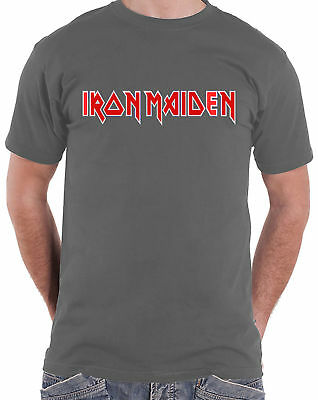 IRON MAIDEN Classic Band Logo Grey Eddie T-SHIRT OFFICIAL MERCHANDISE