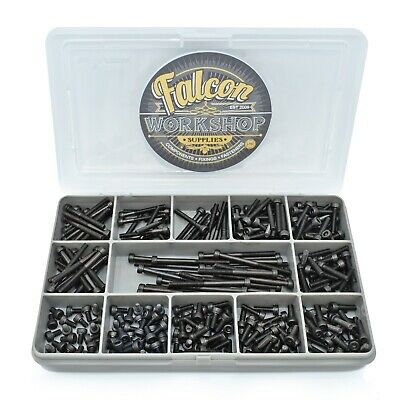 230 Assorted M3 High Tensile Self Colour Black Socket Head Caps Bolts Screw Kit