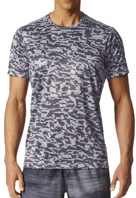 adidas Freelift Climacool Short Sleeve Mens Training Top - Grey