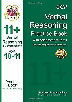 11+ Eleven Plus Verbal Reasoning Practice Book Assessment Tests Ages 10-11 New
