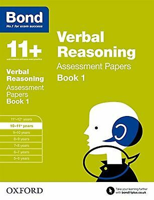 Bond 11+ Eleven Plus Verbal Reasoning Assessment Papers 10-11+ Years Book 1 New