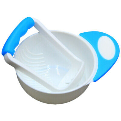 Baby Infant Learn Dishes Grinding Bowl Handmade Grinding Food Mill Complementary