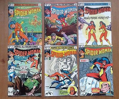 6 Issues Of Spider-Woman Vol.1 #23,24,25,26,27,28 Marvel Comics 1980 All N/fine