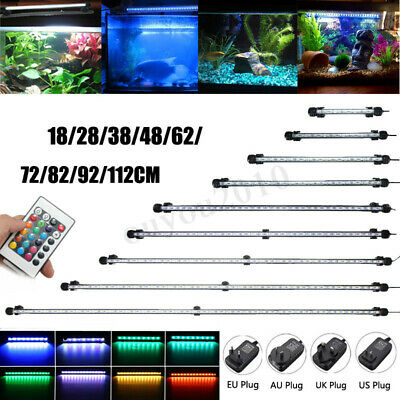 20CM-130CM Aquarium Poisson LED Lampe Bar Lumière Éclairage Submersible + Remote