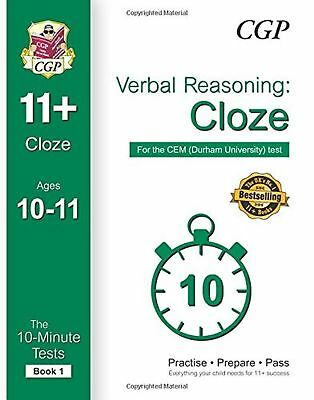 10 Minute Tests for 11+ Verbal Reasoning Cloze Ages 10-11 Book 1 CEM Test Book