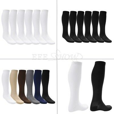 6 Pairs Men Women Compression Socks Stockings Graduated Support Knee-High Sleeve