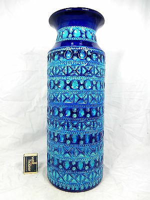 Beautiful glazed  70´s Bodo Mans  design BAY Relief Keramik pottery vase 607 40