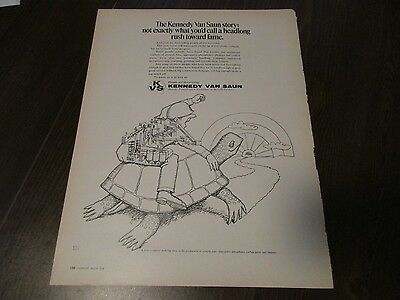 Kennedy Van Saun - McNally - Pittsburgh - Turtle  1970 Print Ad