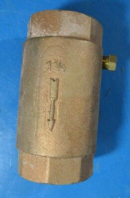 "Flomatic 1 1/4"" Brass Line Check Valve NO. 80"