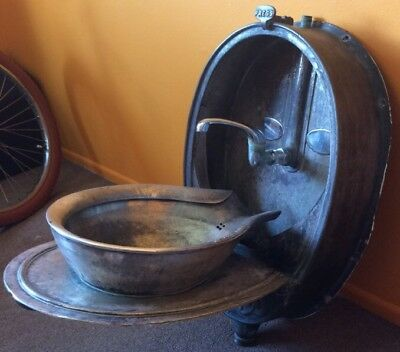 Antique Pullman Car Folding Sink   Railroad Lavatory Basin