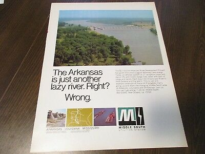 Middle South Utilities - Arkansas River  -  1970 Print Ad