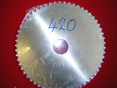 """Blank 66T 420 (1/2"""" x 1/4"""") chain pitch Rear Sprocket Alloy. New"""