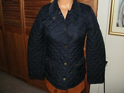 RALPH LAUREN Polo Girls NAVY Diamond Quilted Barn Jacket XL EXTRALARGE 16 LDS XS
