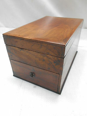 Antique Keyaki and Kiri Wood Calligraphy Box Japanese Drawers C1880s #672