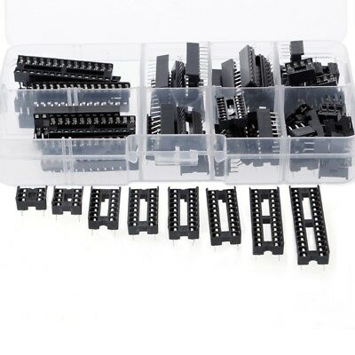 66 Pcs DIP IC Sockets Adaptor Solder Type Socket Kit 6 8 14 16 18 20 24 28 Pins