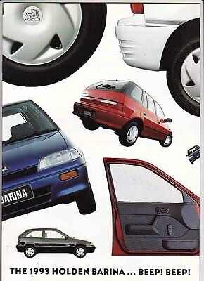 1993 HOLDEN MH BARINA Brochure Like SUZUKI CULTUS & SWIFT