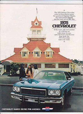 1975 CHEVROLET FULL SIZE US Brochure CAPRICE CLASSIC, IMPALA BEL AIR
