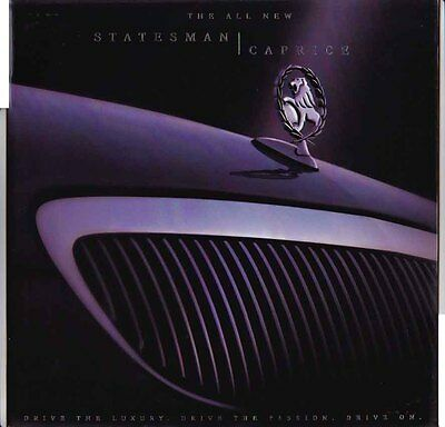 1999 HOLDEN WH STATESMAN & CAPRICE Large Format Prestige 32p Brochure COMMODORE