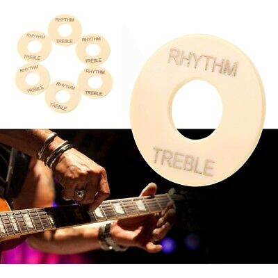 6x Cream LP Guitar Toggle Switch Washer Rhythm Treble Ring for Les Paul