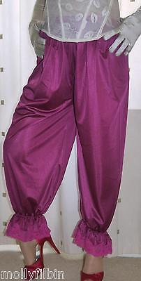 Vintage inspired Victorian~Edwardian style pink bloomers~pettipants~culottes