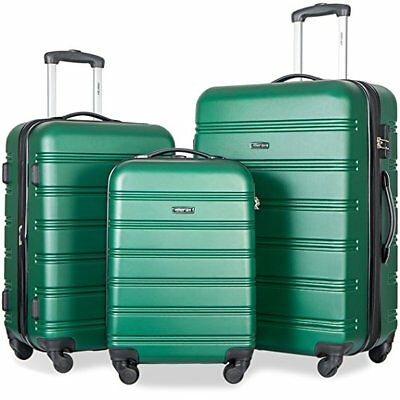 SALE!  ABS Travel Luggage Set 3 Pieces Expandable Lightweight Spinner  Suitcase