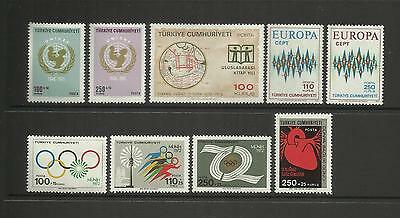 Turkey Turkiye ~  1971-72 Small Group Commemorative  Issues (Mint Mnh)