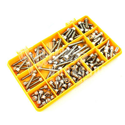 115 ASSORTED 10g A2 STAINLESS DIN912 SOCKET CAP SELF TAPPING SCREW TAPPER KIT