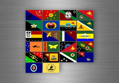 Flag sheet sticker labels country subdivisions states province papua new guinea