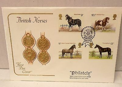 Great Britain First Day Cover British Horses 1978 A Cotswold Cover