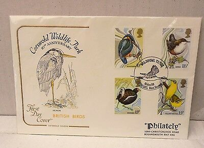 Great Britain First Day Cover British Birds 1980  A Cotswold Cover