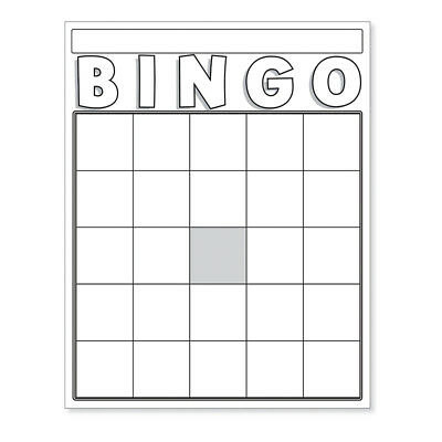 Blank Bingo Cards White