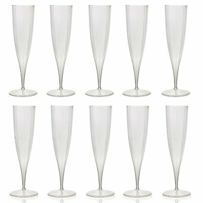 10x 230ml Champagne Flutes Plastic Disposable Party Wine Dine Cups Toast Xmas