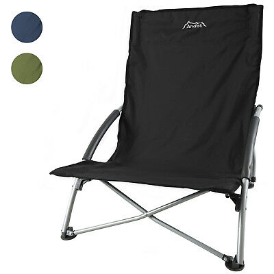 Andes Low Folding Beach/Fishing/Camping Deck Chair Outdoor Garden Lounger