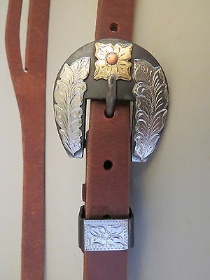 "New Handmade GRUMPY OLD COWBOY ¾"" Heavy Harness Headstall DON ROGERS Buckle"