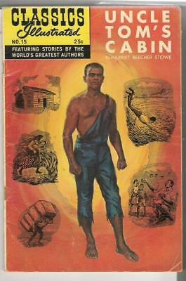 """Summer 1970 Issue; """"Uncle Tom's Cabin""""; A Classic Illustrated Comic; No.15"""